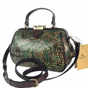 Patricia Nash Gracchi Frame Tooled Leather Satchel